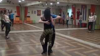 Презентация кизомба на Открытых уроках в школе танцев КубА. Владимир Лизунов и Елена Соломатина