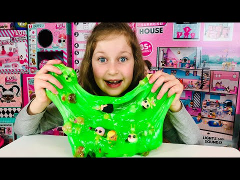 WOW! LOL Surprise SLIME ! Sisters Pretend Play