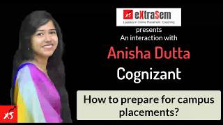 Cognizant Employee Anisha on campus placement preparation