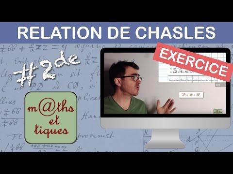 EXERCICE : Appliquer la relation de Chasles - Seconde - YouTube