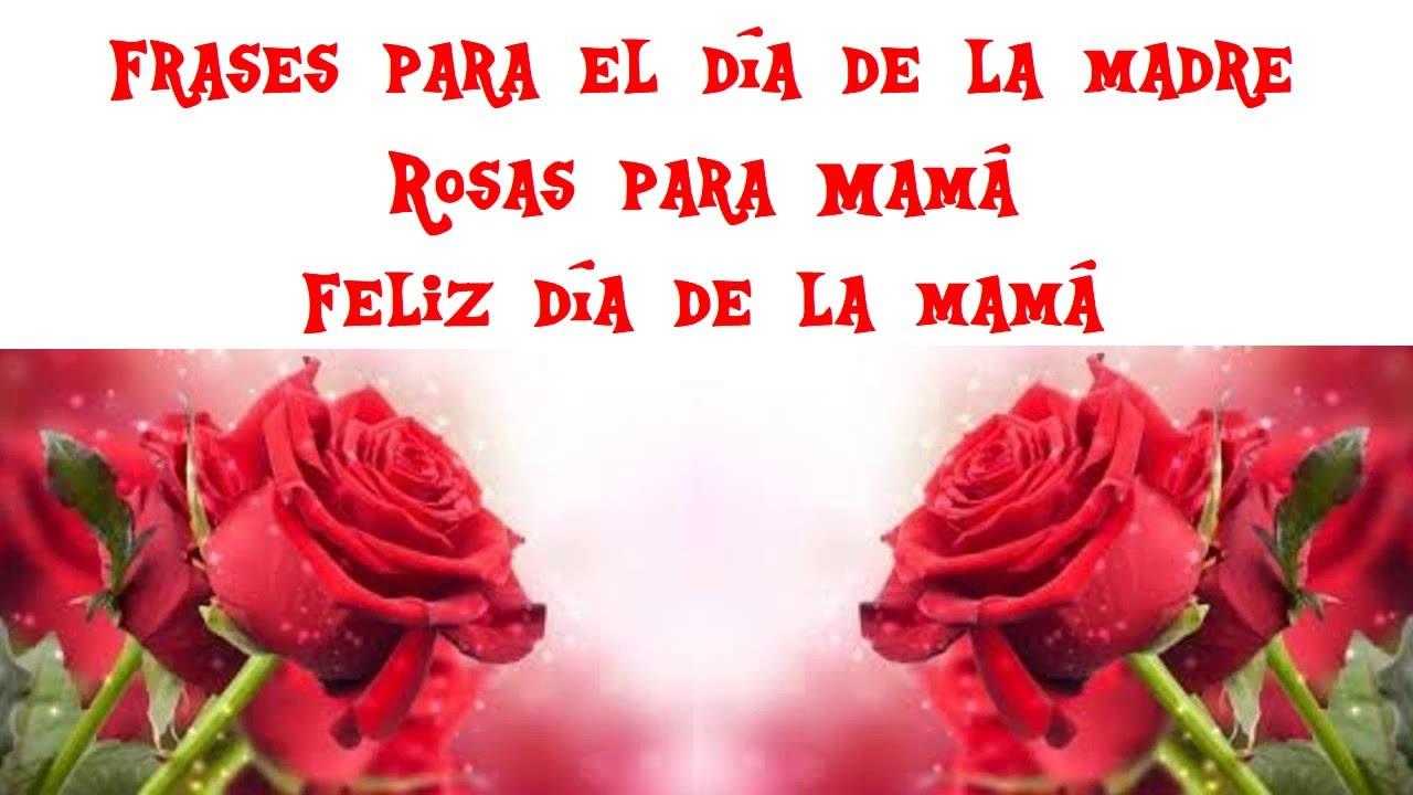 Quotas Para Mama: Frases Para El Dia De La Madre Rosas Para Mamá Feliz Dia