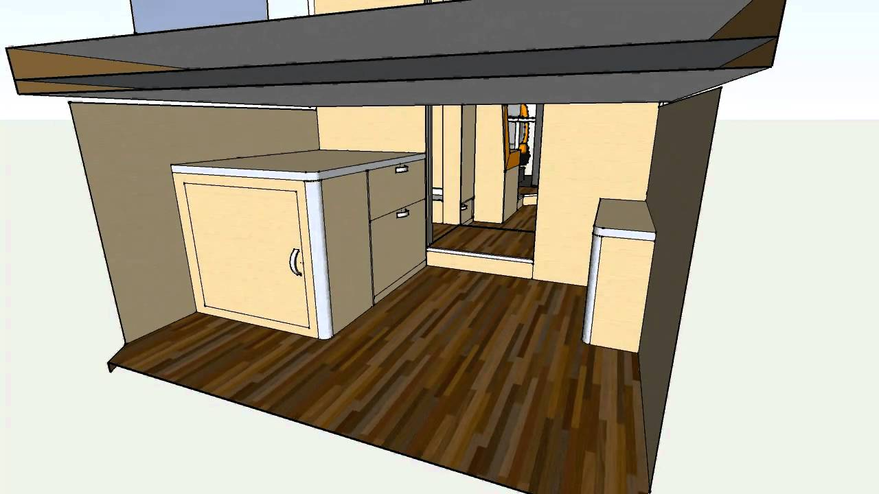 Camper van conversion based on fiat peugeot citroen l4h3 for Campervan furniture plans