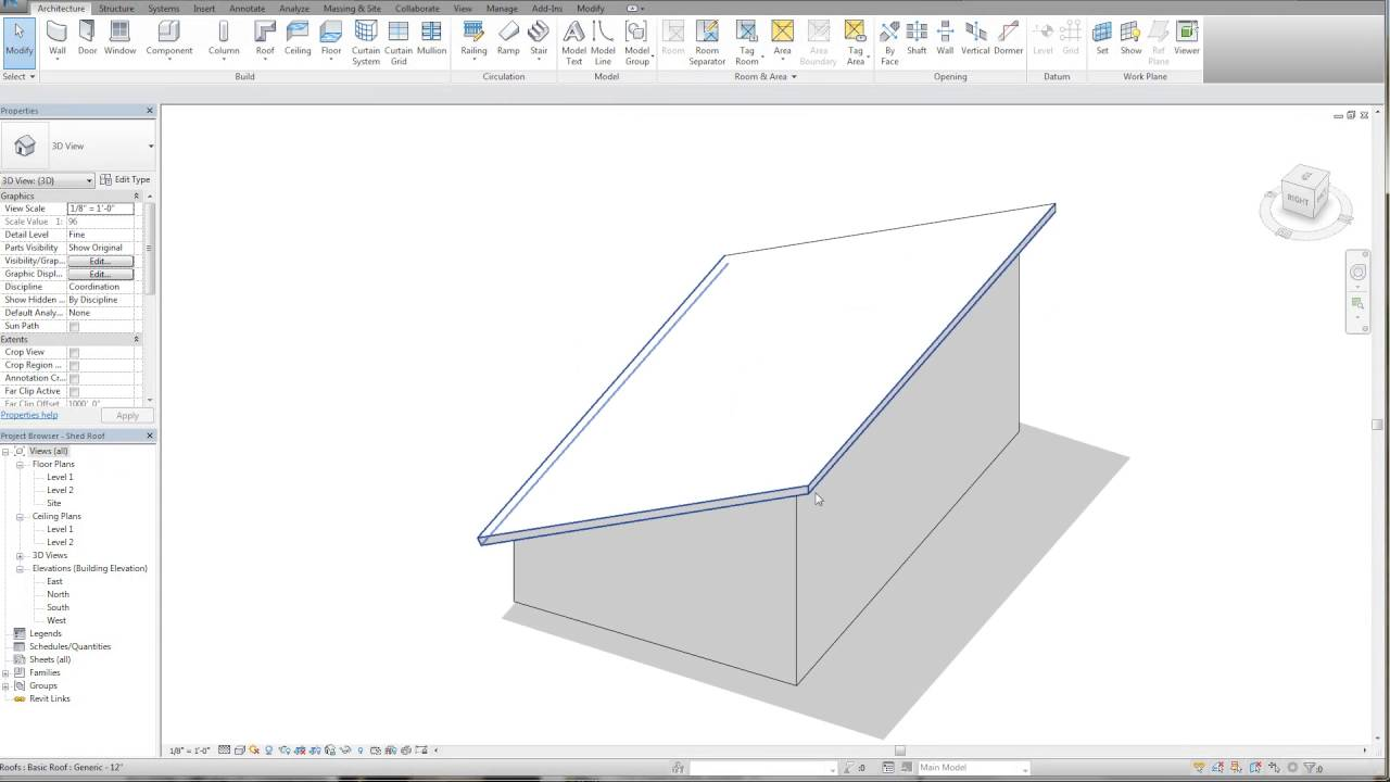 Revit Tutorial Shed Roof High Eave Detail Youtube