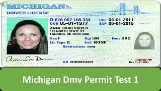 Michigan DMV Permit Test 1