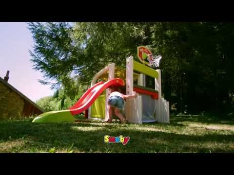 Smoby Childrens Fun Centre Sports Multi-Activity Playhouse Slide Climbing Frame Kids Play Center