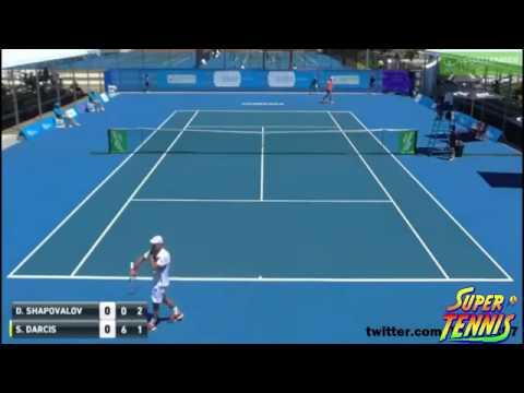 Denis Shapovalov Vs Steve Darcis - Canberra 2017 Highlights