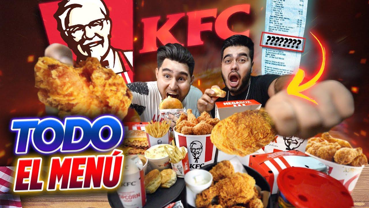 ORDENAMOS TODO el MENÚ del KFC. 🍗🍟 Reto de GORDOS