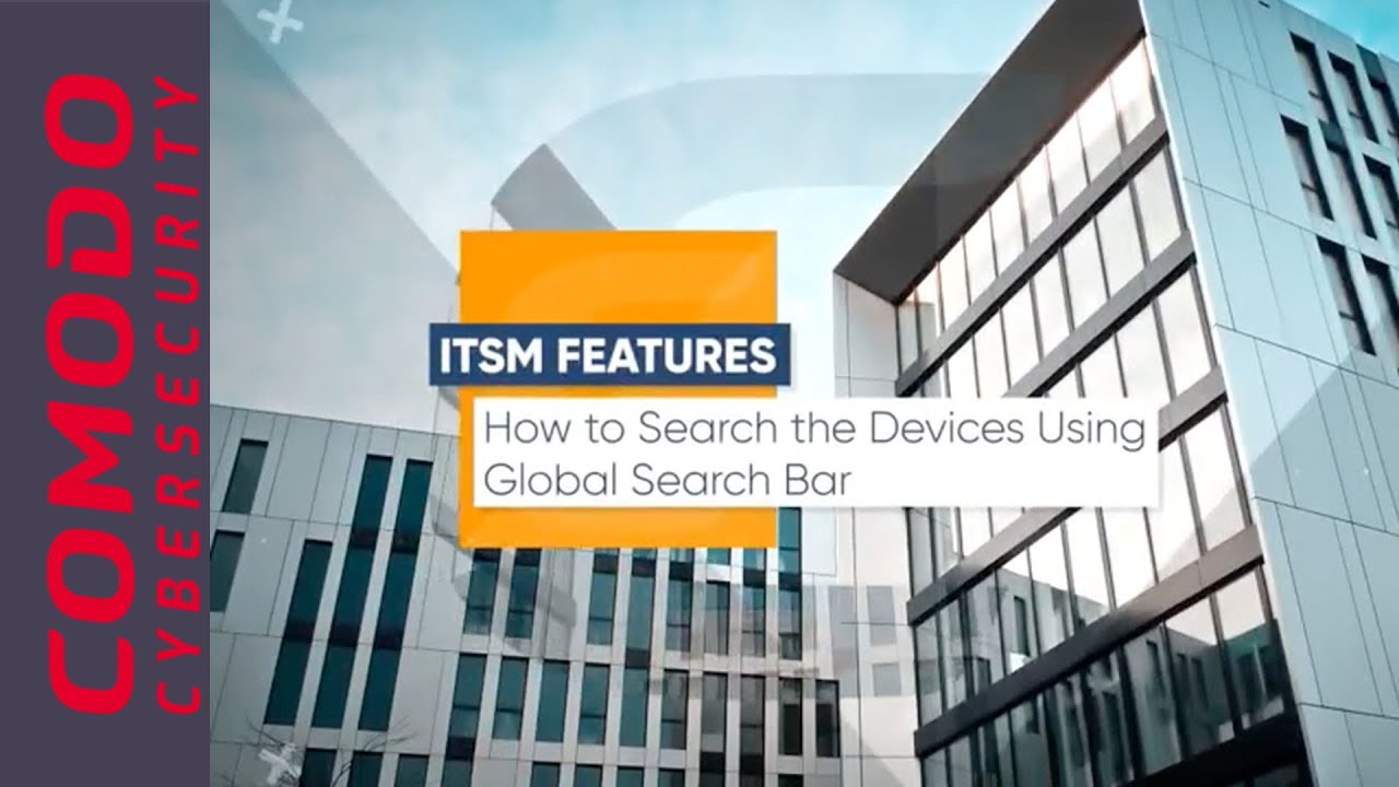 How to search the devices using the global search bar in Comodo ONE ITSM