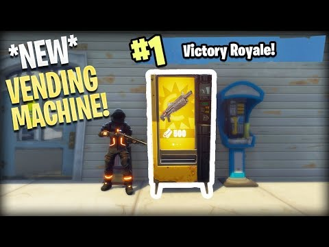 Fortnite: *NEW* VENDING MACHINE GAMEPLAY! (Vending Machine Locations In Fortnite: Battle Royale)