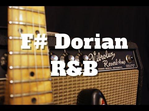 F# Dorian R&B Backing Track