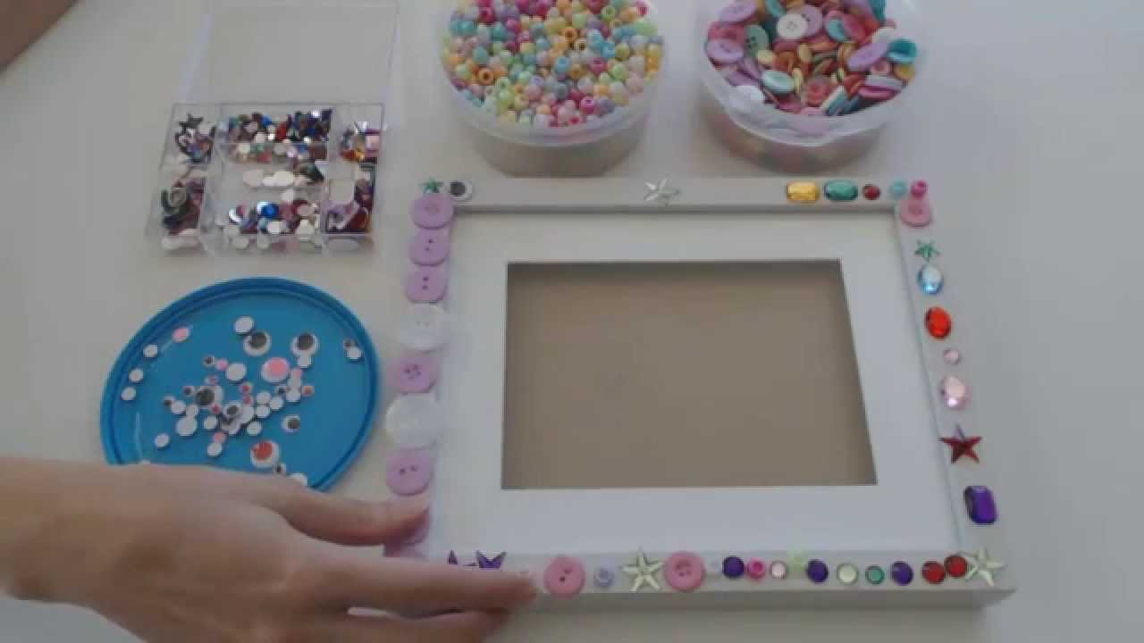 Decorating a box frame - Activities for preschoolers - YouTube