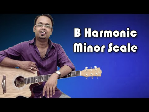 how-to-play---b-harmonic-minor-scale---guitar-lesson-for-beginners