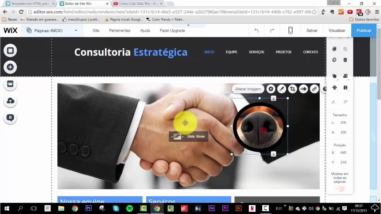 bfb6fbc24 Como Criar   Fazer Site no Wix do zero - Início ao Fim - Completo - YouTube