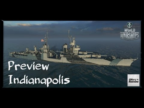 World of Warships Live | Indianapolis | Preview vom neuen Amerikaner [ Deutsch | Gameplay | German ]