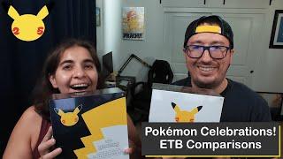 Pokémon TCG Celebrations Elite Trainer Box (ETB) Comparison, Retail vs Pokémon Center Editions