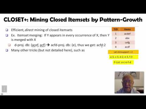 DATA MINING   4 Pattern Discovery In Data Mining   2 6  Mining Closed Patterns