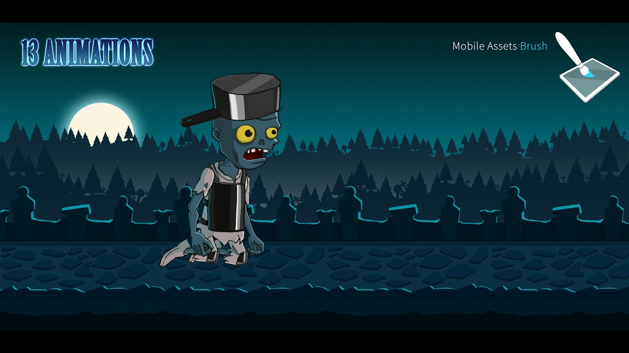 Animated 2D Zombies Pack 4