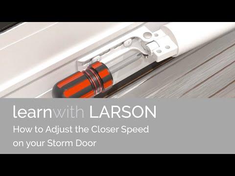 How To Adjust Closer Speed On Larson Door Youtube
