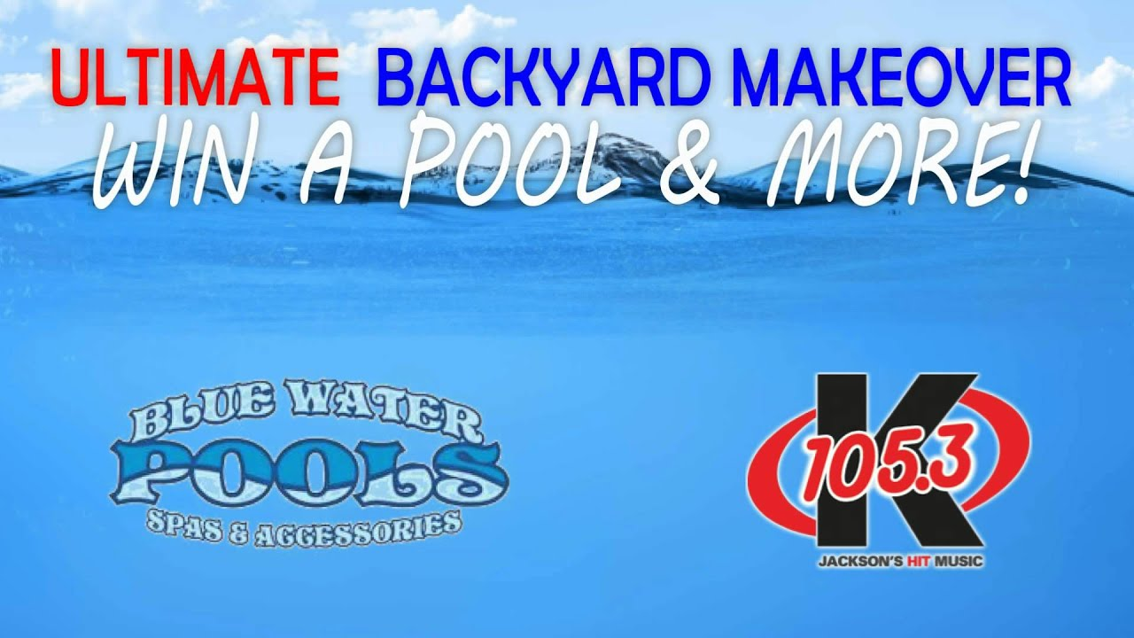 blue water pools and k 105 3 backyard makeover youtube
