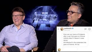 "Avengers: Endgame Interviews - Anthony And Joe Russo Answer A ""fan"" Question From Josh Brolin"