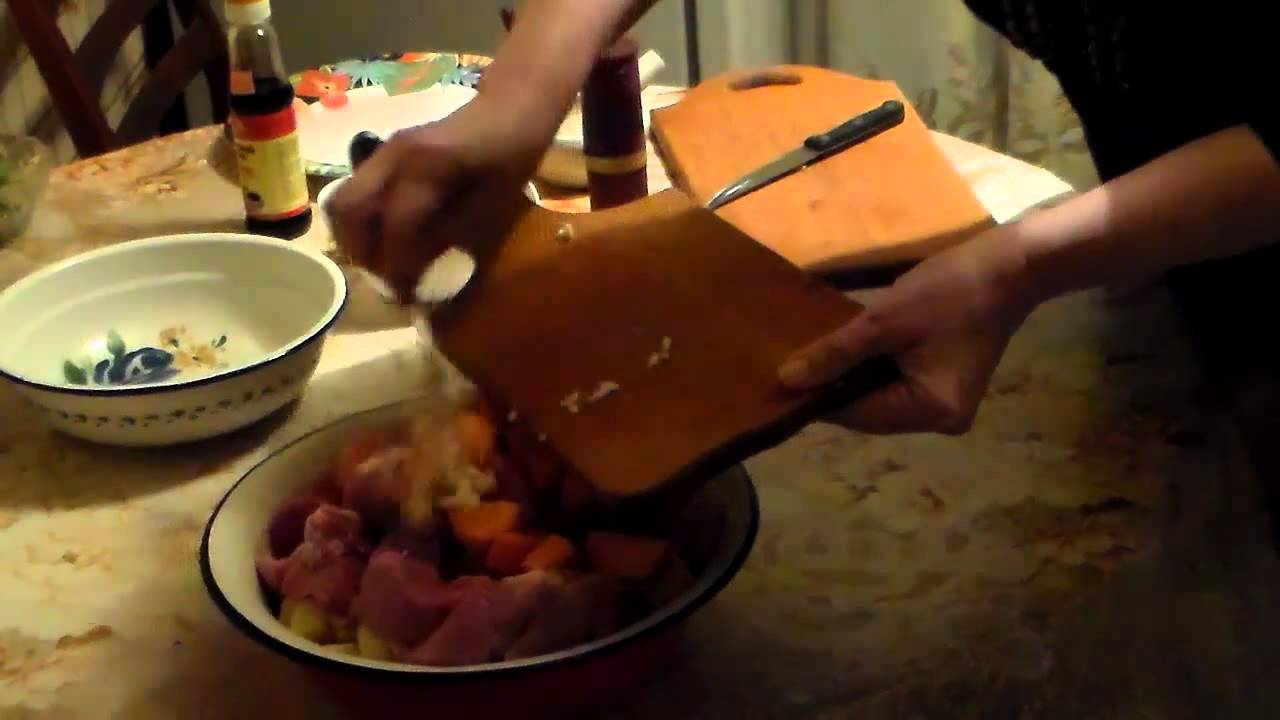 Жаркое с Картофелем в Рукаве - Видео Рецепт|Картошка с Мясом в Рукаве Видео