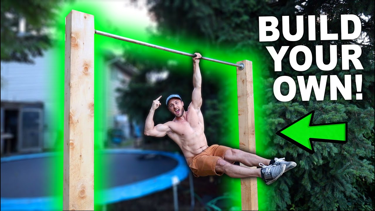 NEW BACKYARD PULL UP BAR! (BEST ONE YET) 🌱💪
