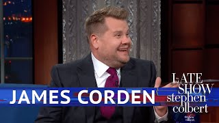 Download James Corden Rates Trump's Royal Performance Mp3 and Videos