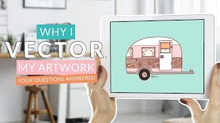 Gambar cover Why I Vector My Work | Why Procreate Isn't My Final Choice for Finished Art