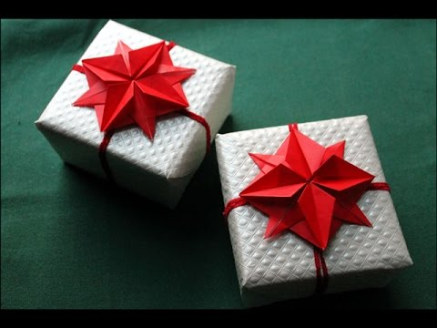 Origami Flower Gift Wrapping And