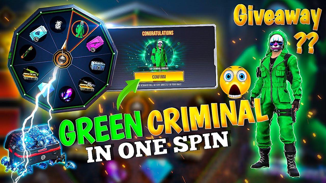 Finally I Got Green Criminal Bundle in free fire    Most Rare ? Green Criminal Only 40 Diamonds