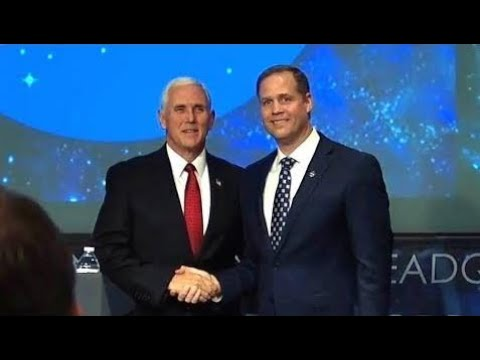 VP Mike Pence Participates in a swearing in ceremony for new NASA Administrator Jim Bridenstine  Ap