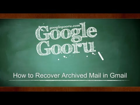 how to find archived mail