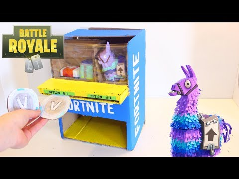 DIY how to make a Fortnite Vending Machine