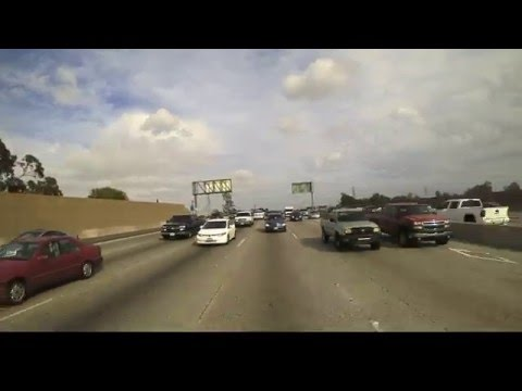 Los Angeles to Buena Park Reverse Dashcam!