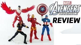 Review dos Vingadores da coleção Avengers Assemble - Capitão América, Homem de Ferro, Víuva e Falcão