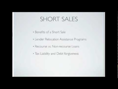 Foreclosure Avoidance Short Sales & Optoins for Distressed Home Owners Part II