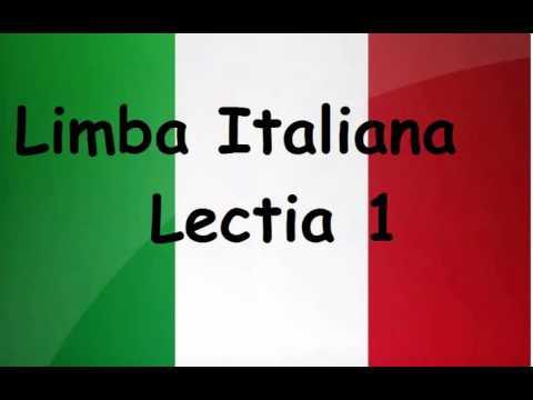 Limba Italiana pentru incepatori - Lectia 1