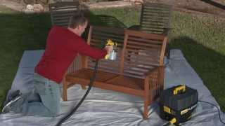 Wagner Flexio 890 - Lawn Furniture Staining Project