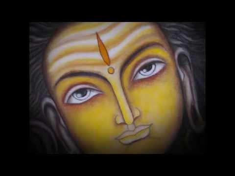 Modern Art Shiva Oil Pastels