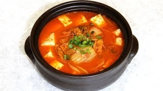 Kimchi Stew (quick And Easy With Tuna), 김치 찌개 - Crazy Korean Cooking