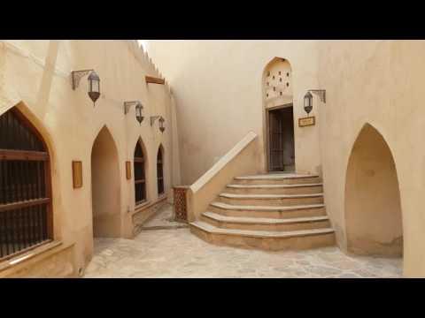 Inside of  Nizwa fort Oman (4K)