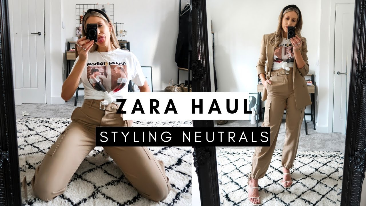 ZARA SS19 HAUL   Styling 4 Neutral/Beige Outfits for Spring/Summer 1