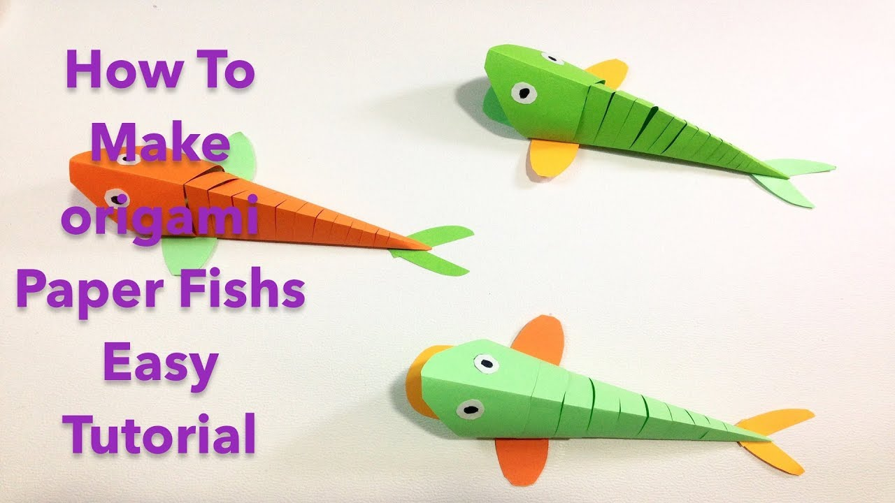 easy origami fish origami fish easy tutorial paper folding simple 1937