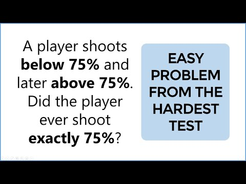 Easy Problem From The Hardest Test