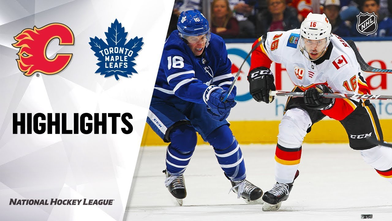 NHL Highlights | Flames @ Maple Leafs 1/16/20
