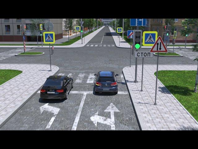 Разбор ДТП при повороте налево, когда он разрешен из нескольких полос
