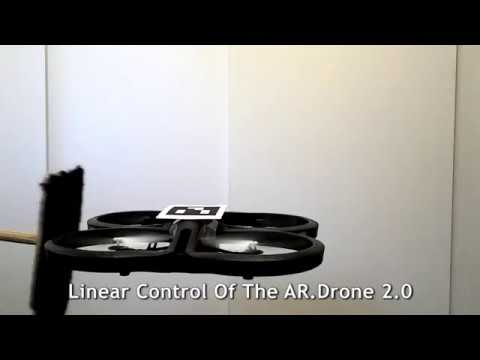 Linear control of the Parrot AR.Drone 2.0 using Matlab Simulink Embedded Coder.