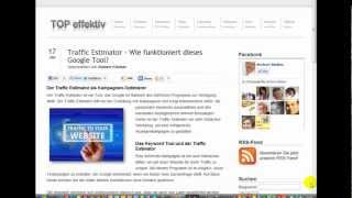 Traffic Estimator - Wie funktioniert dieses Google Tool?