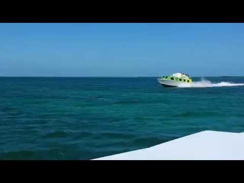 Water Taxi from Belize City to Caye Caulker video2