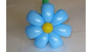 ромашка 7 лепестков из шаров / simple 7 petals flower balloon (Subtitles)
